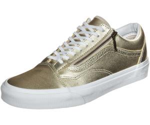 Vans Old Skool Zip Metallic Leather Wheat Gold True White