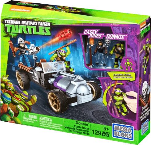 MEGA BLOKS Donnie Vehículo de carreras de Tortuga Ninja