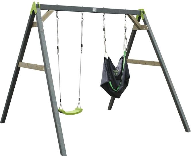 Exit Aksent Doppelschaukel (2 Sitze)+ EXIT Swingbag grün