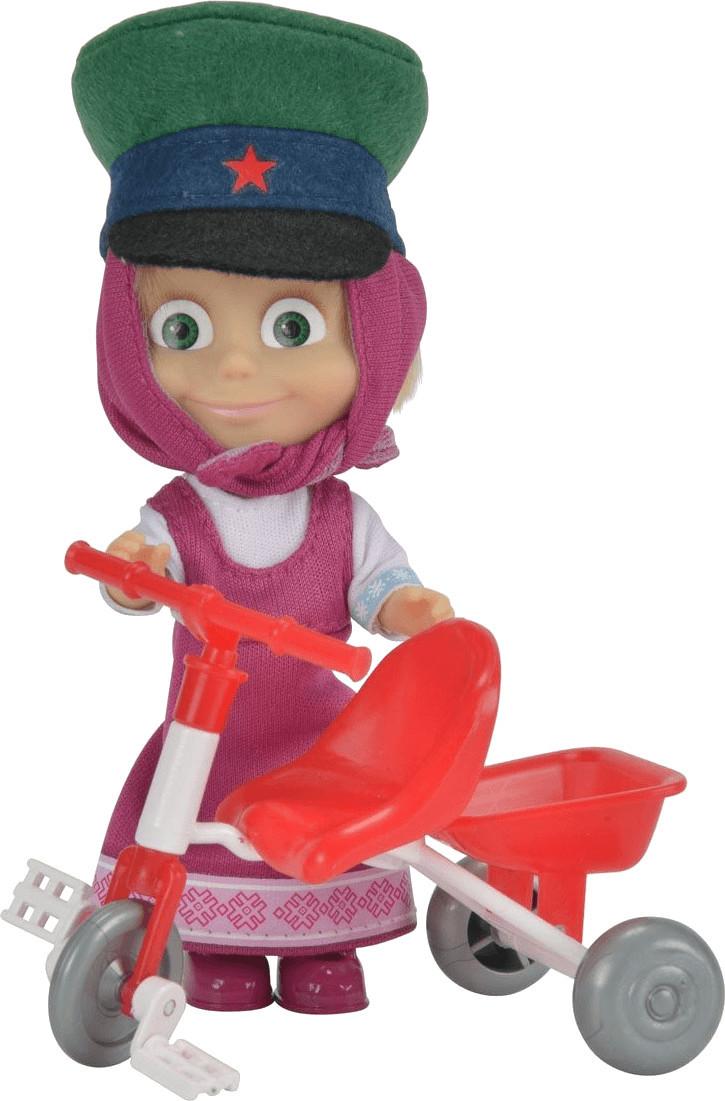 Image of Simba Masha con triciclo e cappello