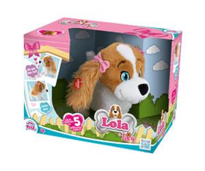 IMC Toys 94802IM Plüschtier Lola Hundewelpe, braunweiß
