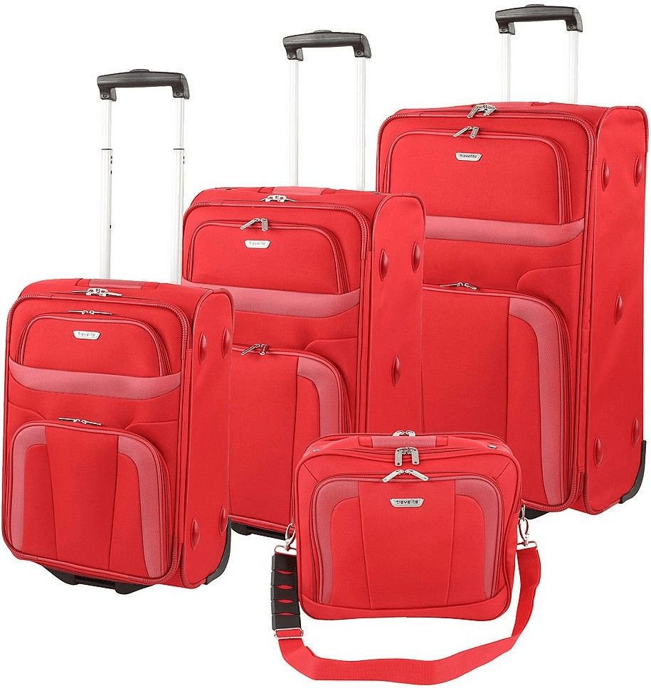 Travelite Orlando Upright-Set 53/63/73 cm & Boardcase red