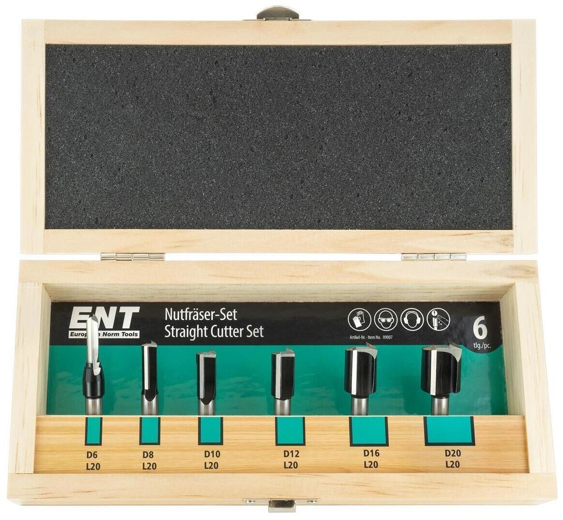 ENT 6 tlg. HW Oberfäser-Nutfräser-Set (9007)