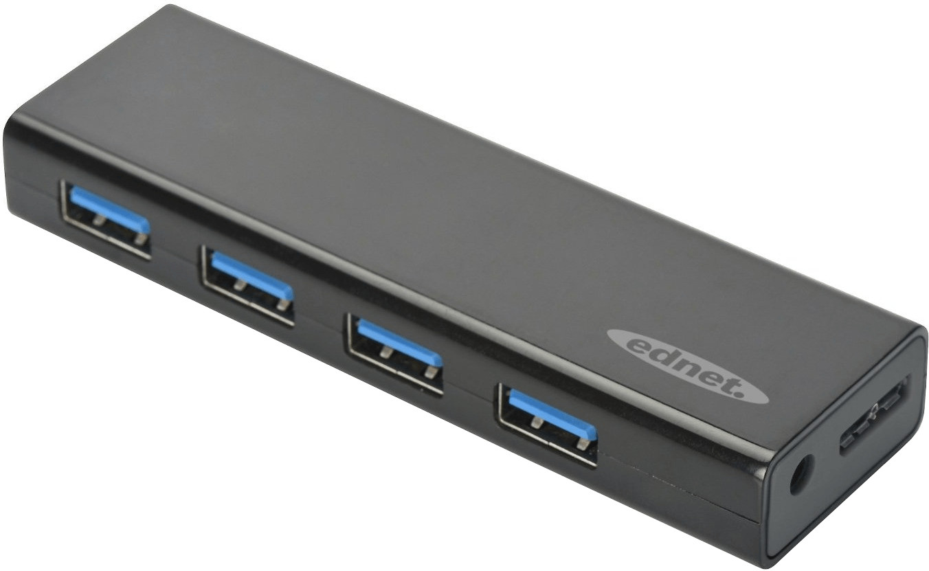 Image of Ednet 4 Port USB 3.0 Hub (85155)