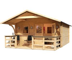 karibu travem nde 2 mit vordach terrasse 150 417 x 417 cm ab preisvergleich bei. Black Bedroom Furniture Sets. Home Design Ideas