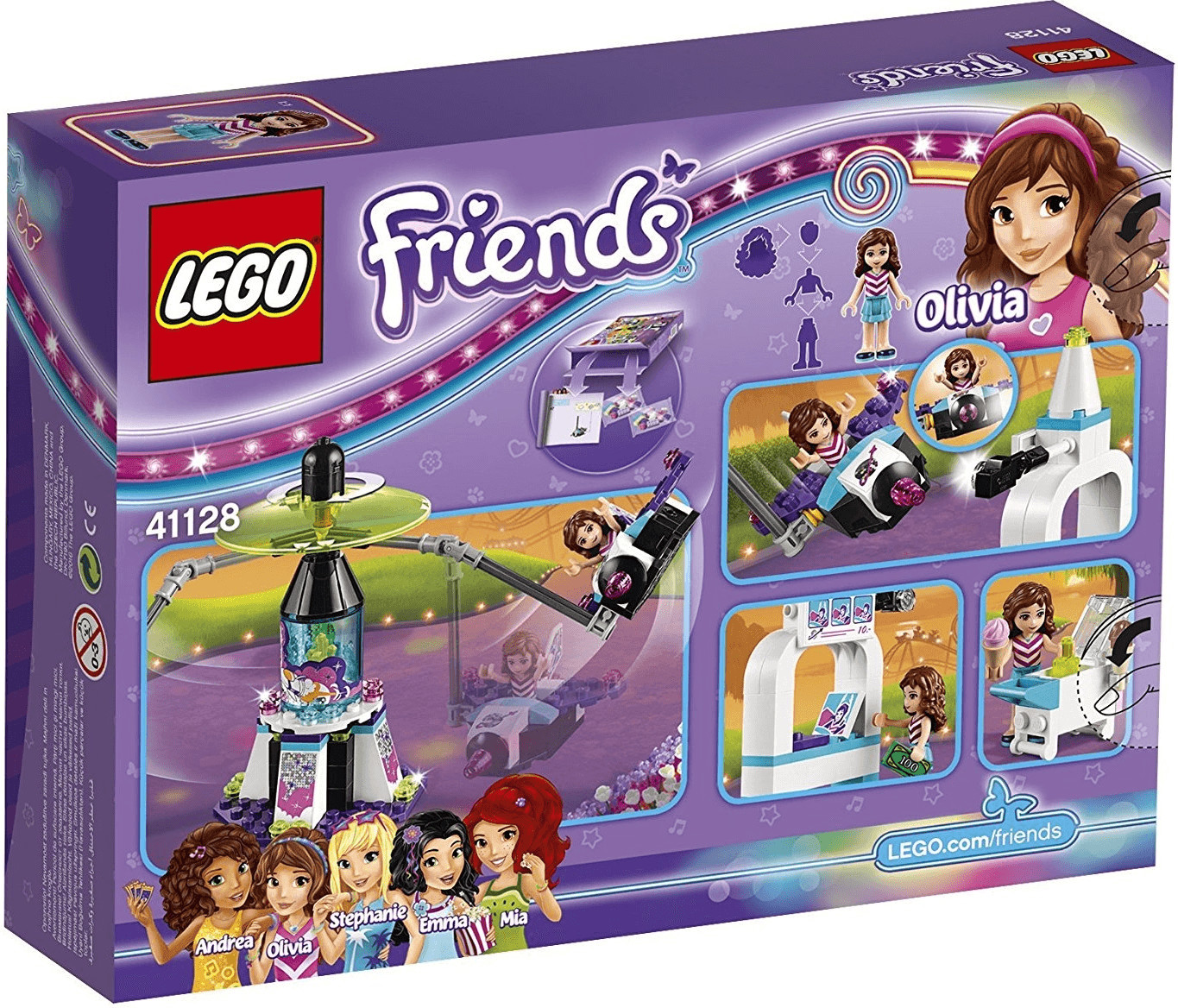 LEGO Friends - Le manège volant du parc d'attractions (41128)