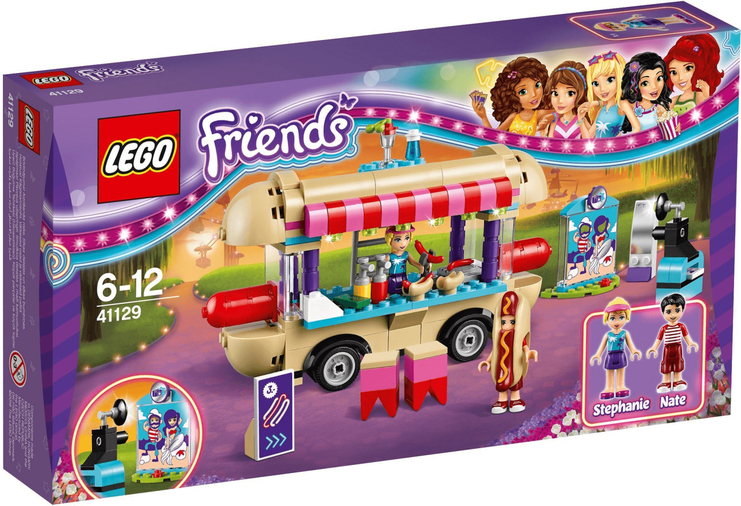 LEGO Friends - La camionnette à hot-dogs du parc d'attractions (41129)