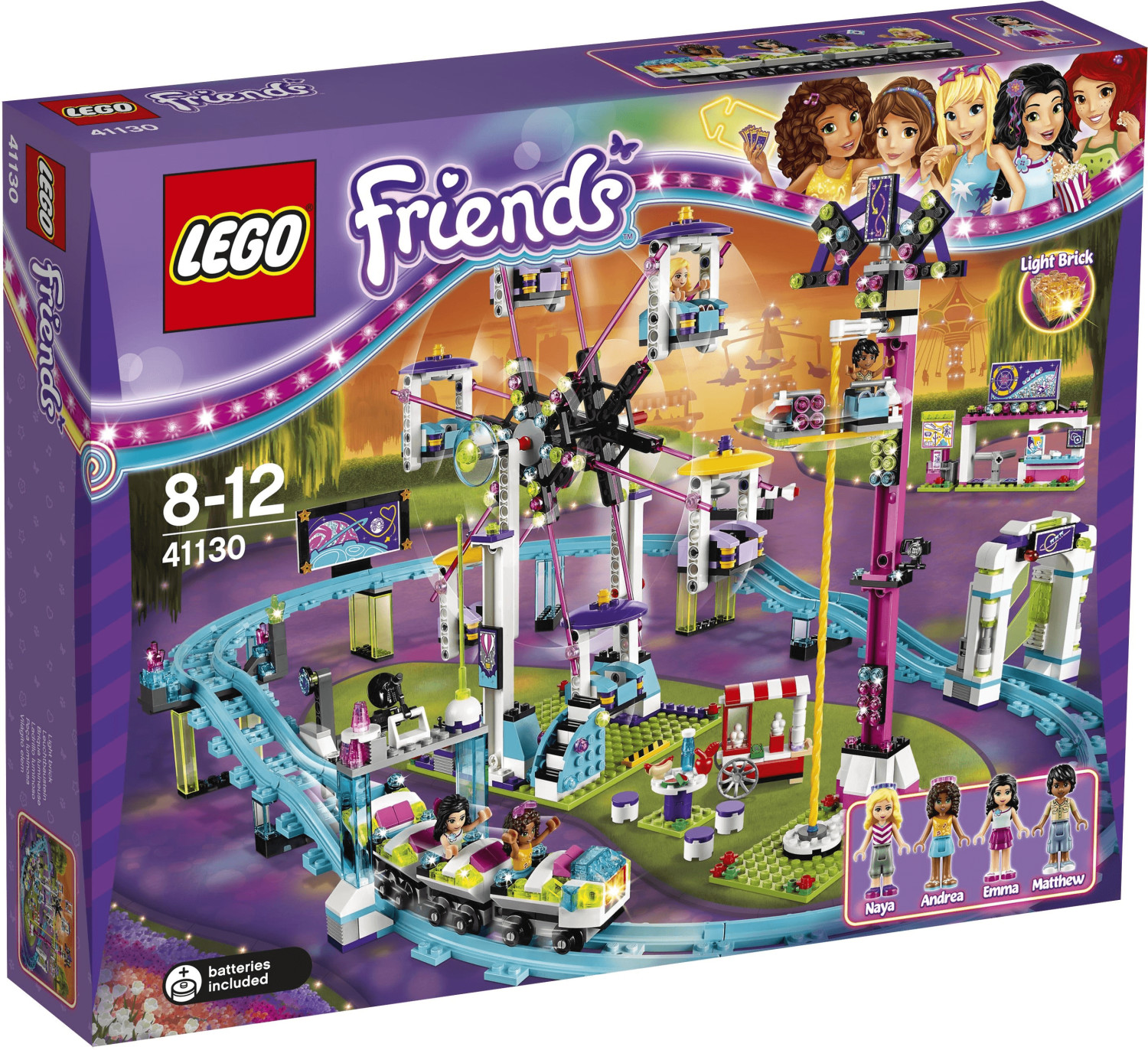 LEGO Friends - Les montagnes russes du parc d'attractions (41130)