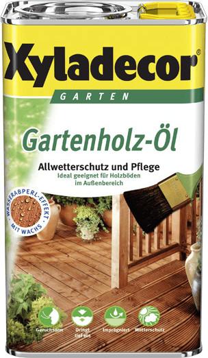 Xyladecor Gartenholz-Öl 2,5 Liter natur dunkel