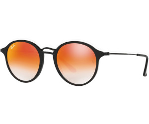 Buy Ray-Ban Round Fleck RB2447 901 4W (black orange gradient flash ... 4ca813e13f