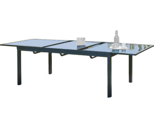 Dcb garden table miami avec rallonge 180 240 x 110 cm au for Table largeur 70 cm avec rallonge