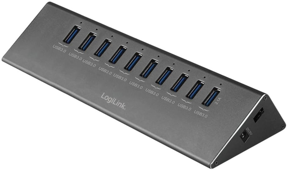 Image of LogiLink 10 Port USB 3.0 Hub (UA0229)