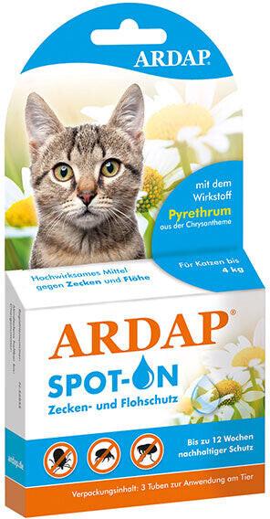 Quiko Ardap Spot on für Katzen unter 4 kg (3x0,...
