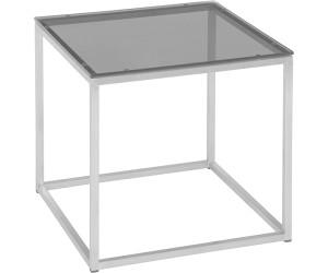 Stern Beistelltisch Edelstahl Glasplatte Schwarz 45x45cm 417352 Ab