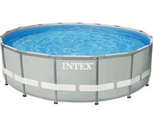 Intex ultra frame pool 427 x 107 cm mit kartuschenfilter for Pool 3m durchmesser aufblasbar