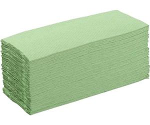Papierhandtücher 2 lagig GRÜN Einweghandtücher Falthandtücher 24x23cm 4000 Stk