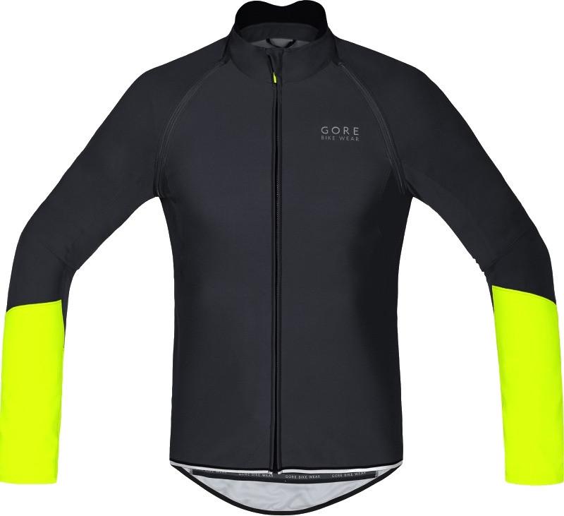 Gore Power Windstopper Soft Shell Zip-Off black / neon yellow