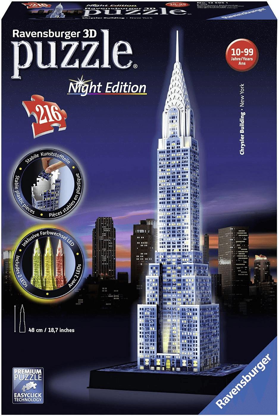 Ravensburger Chrysler Building bei Nacht