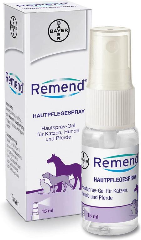 Bayer Remend Hautpflegespray f.Hund/Katze/Pferd...