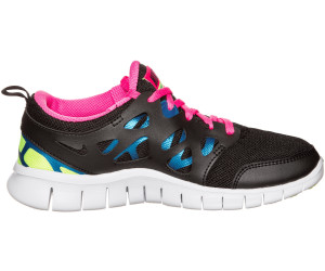 92e658218ef6 Buy Nike Free Run 2.0 GS black pink pow photo blue volt from £39.99 ...