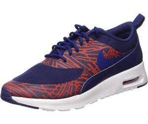 billig Nike Air Max Thea Print GS Schuhe Schwarz Weiß
