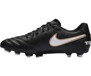 Nike Herren Tiempo Rio III FG Fußballschuhe, Schwarz (Black/White-Hyper Orange-Volt), 40 EU