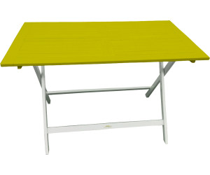 City Green Table pliante Burano 113 x 65 cm vert anis au ...