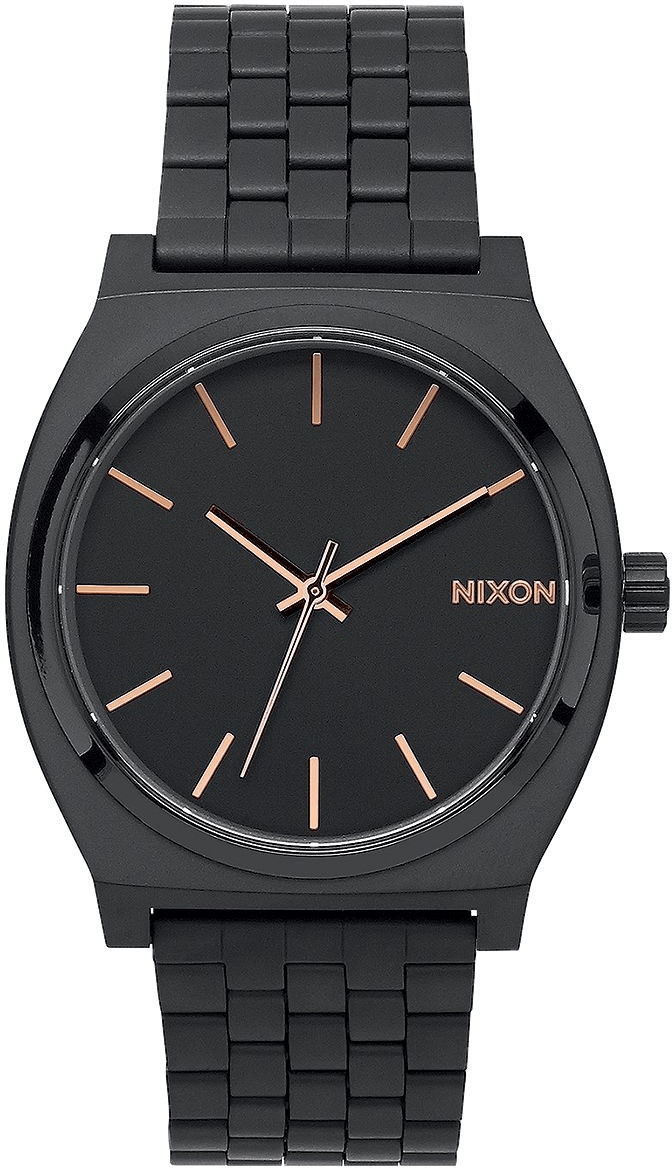 Nixon The Time Teller all black/rose gold (A045-957)