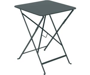 Fermob Table pliante Bistro 57x57 cm gris orage au meilleur ...
