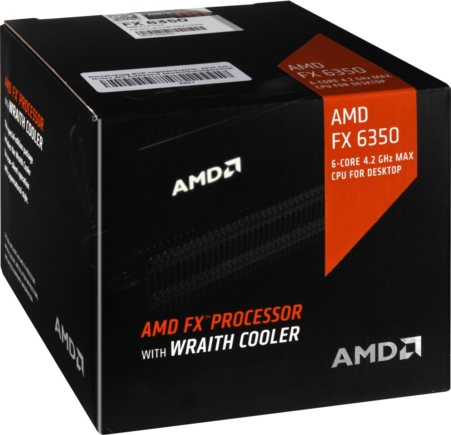 AMD FX-6350 Box with Wraith cooler (Socket AM3+, 32nm, FD6350FRHKHBX)