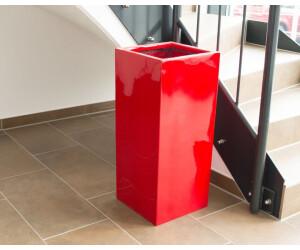 Eleganteinrichten Pflanzsäule rot (30x30x60cm)