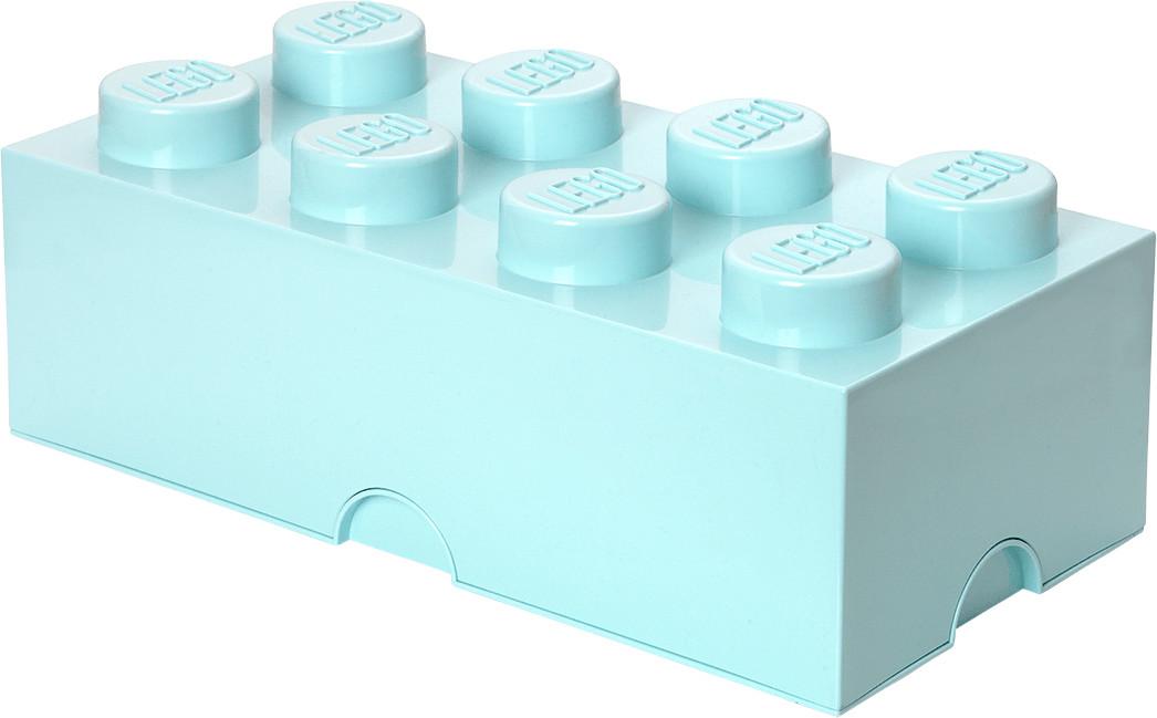 LEGO Aufbewahrungsstein 8 Noppen - aqua