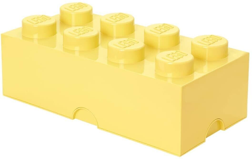 LEGO Storage Brick Box 8 Studs Cool Yellow