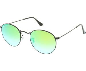 RAY BAN RAY-BAN Sonnenbrille »ROUND METAL RB3447«, schwarz, 002/4J - schwarz/grün