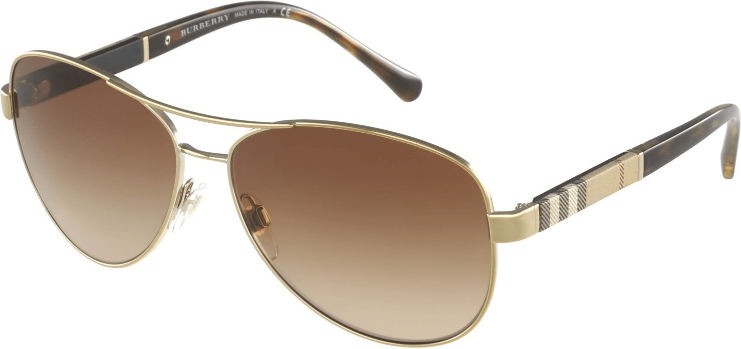 Image of Burberry BE3080 1145/13 (gold-beige striped/brown gradient)