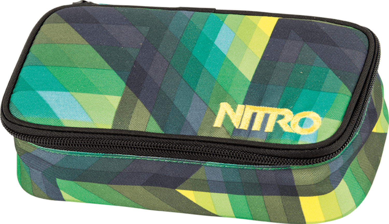 Nitro Pencil Case XL geo green