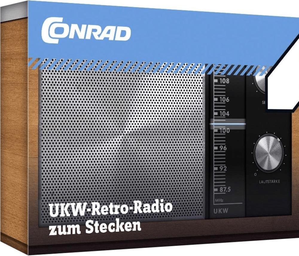 Conrad Retro-Radio UKW-Radio zum Stecken