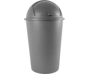 Abfalleimer Mülleimer 50L mit Schiebedeckel Abfallbehälter Papierkorb Schwarz