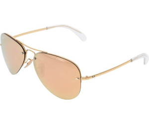 55ffe576859c Buy Ray-Ban RB3449 001 2Y (gold copper mirror) from £95.00 – Best ...