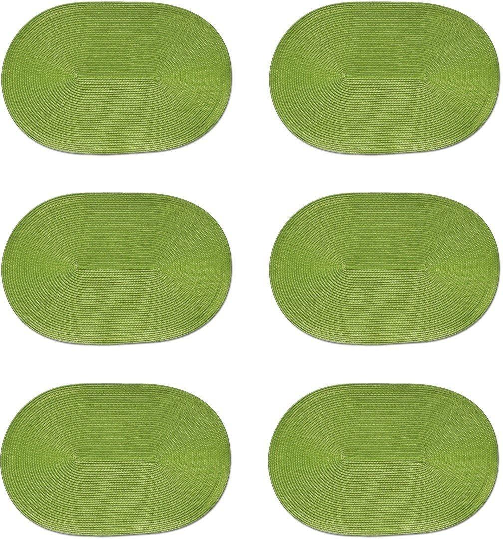 Zeller Platzset oval grün