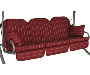 angerer deluxe schaukelauflage f r 3 sitzer 180 x 50 cm faro rot ab 129 99 preisvergleich. Black Bedroom Furniture Sets. Home Design Ideas