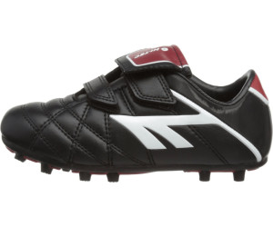 Boys Hi-Tec Black//White//Red Football Boots League Pro SI EZ JR