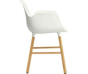 Normann Copenhagen Chaise Form avec accoudoirs chêneblanc