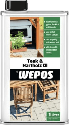 Wepos Teak- & Hartholz Öl 1 l