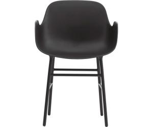 Normann Copenhagen Chaise Form avec accoudoirs aciernoir au