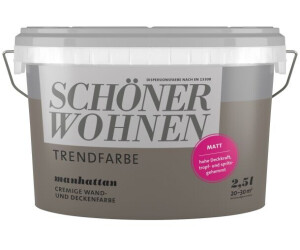 Schoner Wohnen Manhattan Matt 2 5 L Ab 19 95 Preisvergleich Bei