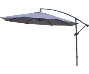 alice 39 s garden parasol rond hardelot 3 m gris au meilleur prix sur. Black Bedroom Furniture Sets. Home Design Ideas