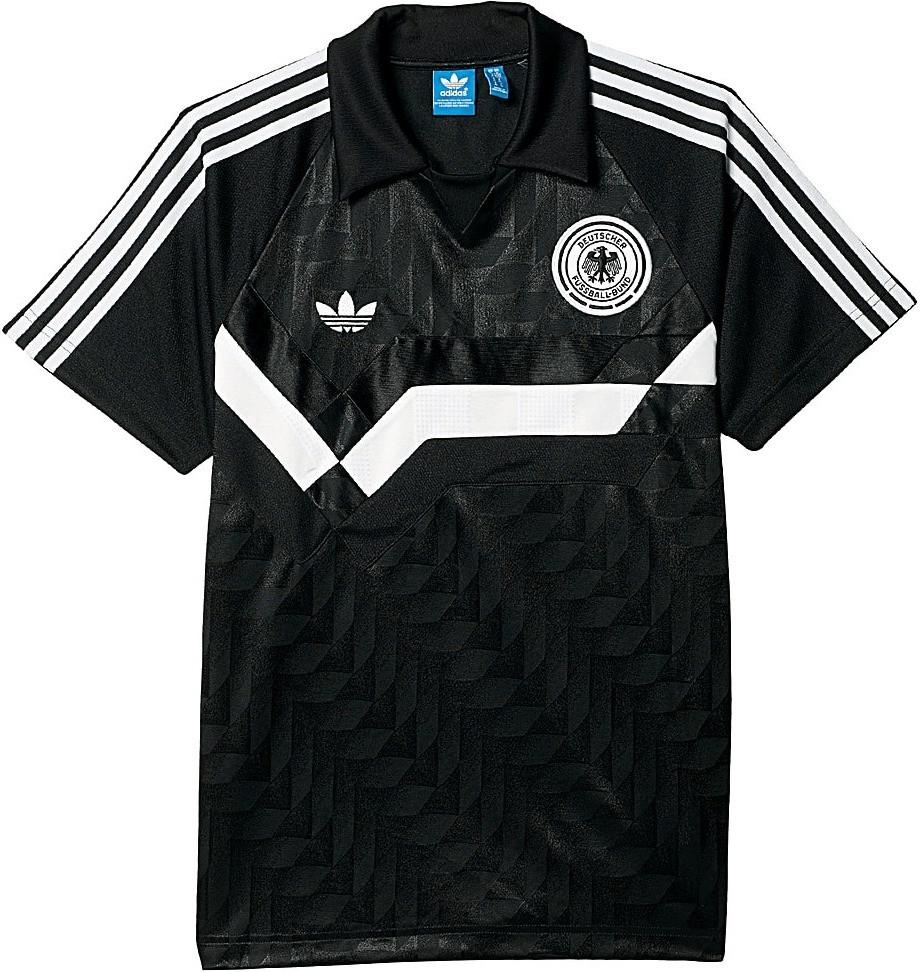 Adidas Deutschland Poloshirt Retro schwarz