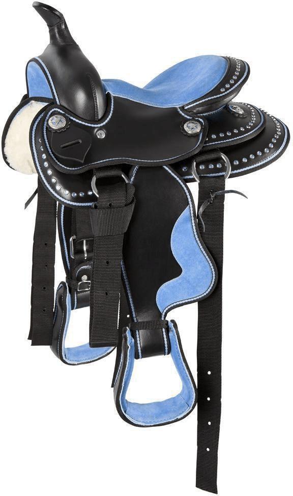 Pfiff Westernsattel Pony Hellblau