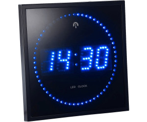 lunartec horloge digitale murale radiopilot e 60 led au meilleur prix sur. Black Bedroom Furniture Sets. Home Design Ideas